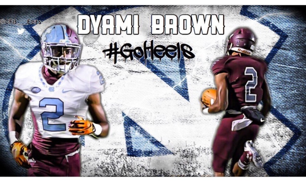 Dyami Brown committed to North Carolina (Twitter screen shot)