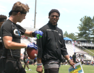 VIDEO: Cam Newton coaches 7-on-7 team with energy and swagger