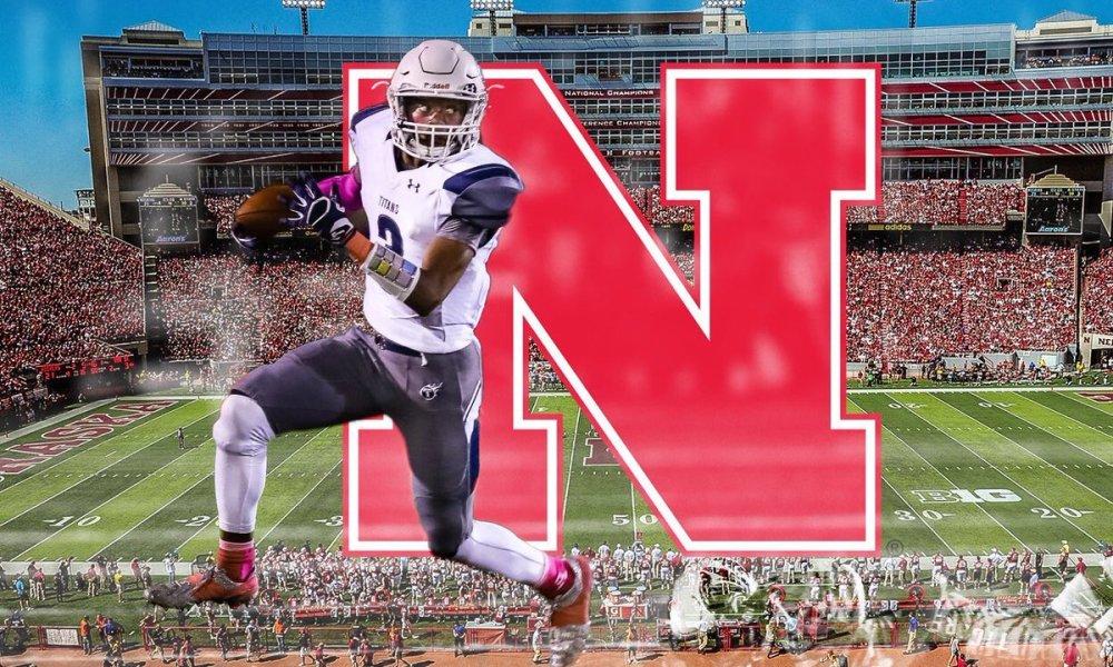 Mario Goodrich committed to Nebraska (Twitter screen shot)