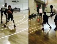 VIDEO: Carmelo Anthony's son Kiyan already looking a lot like dad