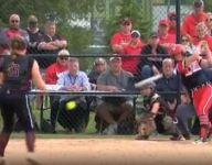 VIDEO: Ohio softball player's bat breaks in half on contact