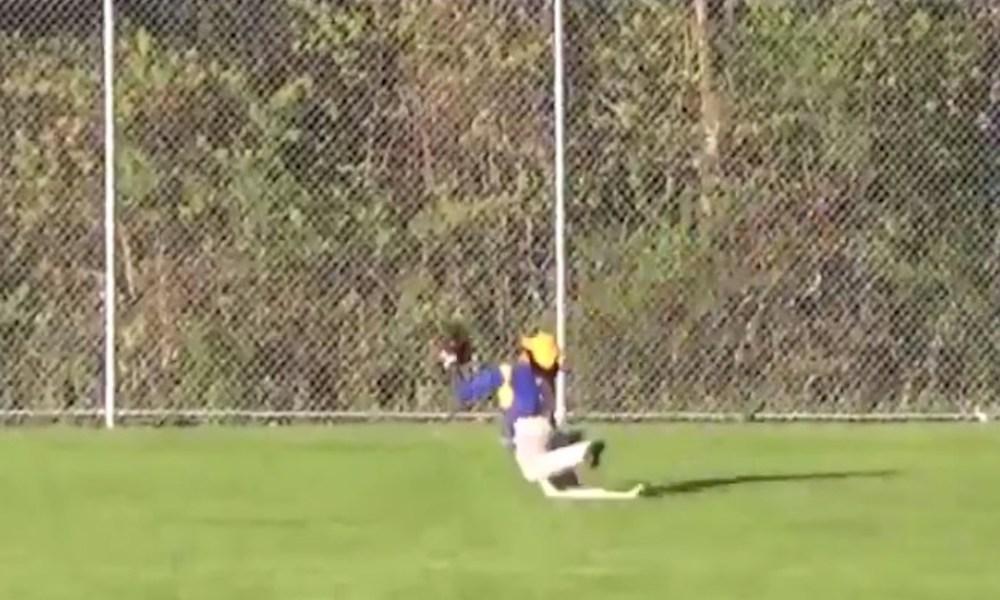 Harding outfielder Josh Garcia (Twitter screen shot)