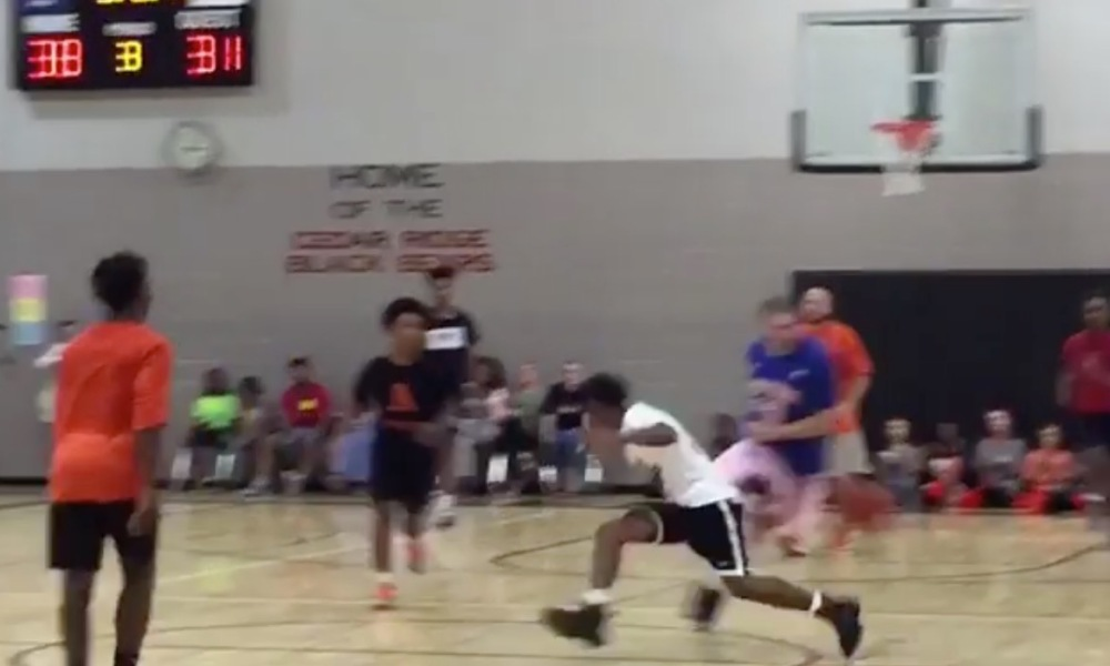 An Alabama middle school coach dropped a student defender during a charity game (Instagram screen shot)