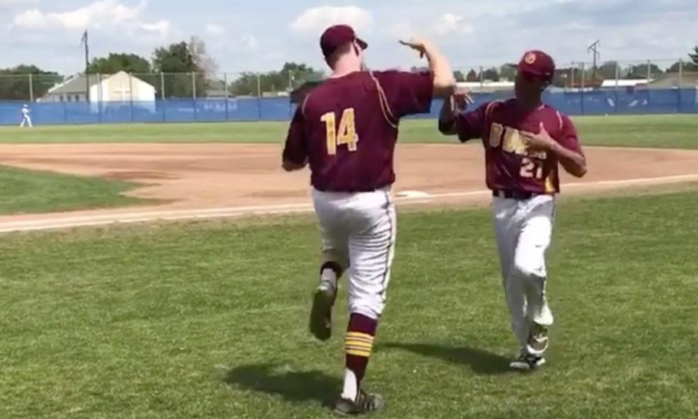 O'Dea baseball players Domonique Gates and Warren King (Instagram screen shot)