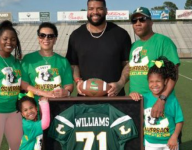 Redskins All-Pro Trent Williams has jersey retired at alma mater's spring game
