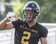 Which top 10 2018 football recruits remain uncommitted?
