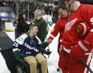 Mich. hockey community rallies around paralyzed player
