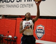 Fran Belibi, best known for her dunks gone viral, a well-rounded star for Team USA