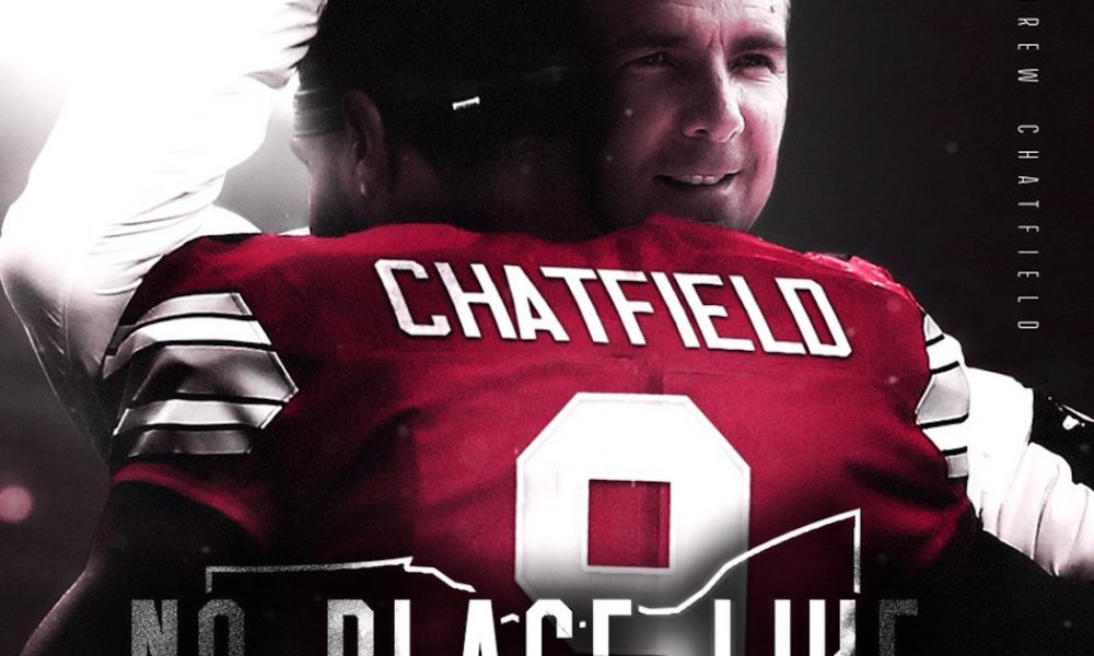 Florida defensive end Andrew Chatfield committed to Ohio State ahead of many of the nation's other top programs (Photo: Twitter screen shot)