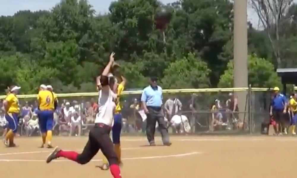 Emily Klingaman hit a walk-off homer to capture the Class 6A softball title in Virginia (Photo: Twitter screen shot)