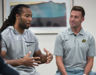 VIDEO: Cardinals WR Larry Fitzgerald imparts some wisdom at The Opening