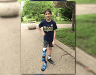 Mo. boy feels 'unstoppable' with custom St. Louis Blues hockey blade prosthetic leg
