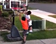 VIDEO: 6-year-old son of Washington hoops assistant dunks with authority