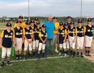 Cleveland Indians manager Terry Francona visits local little league baseball game