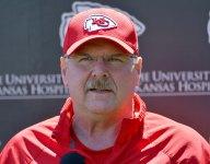 Kansas City Chiefs coach Andy Reid visits Calif. football team