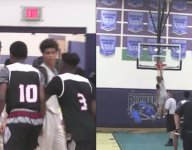 VIDEO: LaMelo Ball dunked in middle of AAU shoving match