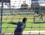 VIDEO: Ga. Little League slugger Jayce Blalock blasts home run at Braves' stadium