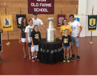 Nick Bonino brings Stanley Cup to HS alma mater for fund raiser