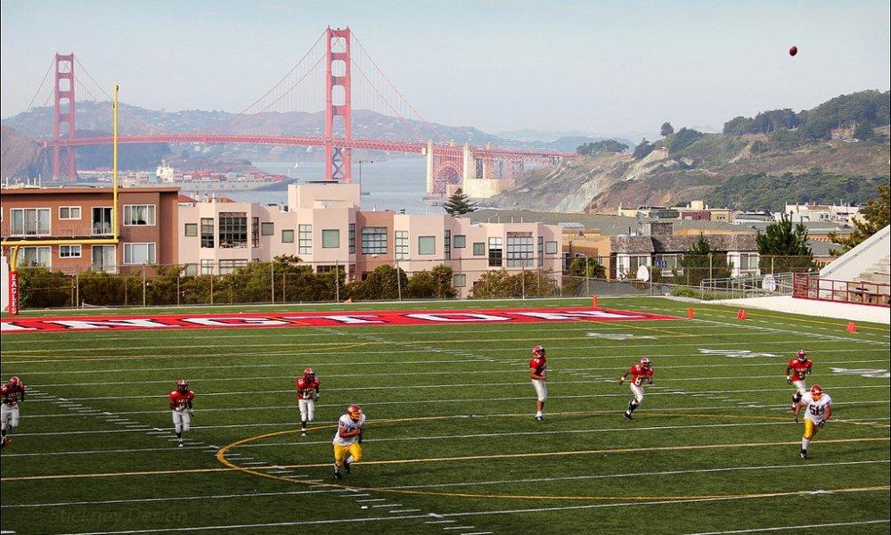 Washington High School football in San Francisco (Photo: Twitter screen shot)