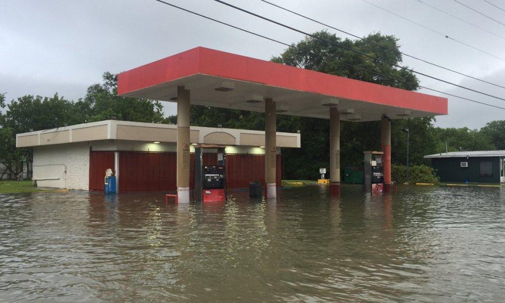 Port Arthur has had dramatic flooding following Hurricane Harvey (Photo: Twitter screen shot)