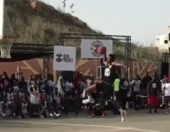 VIDEO: Watch a 15-year-old from NBA Academy Africa dunk from the free-throw line