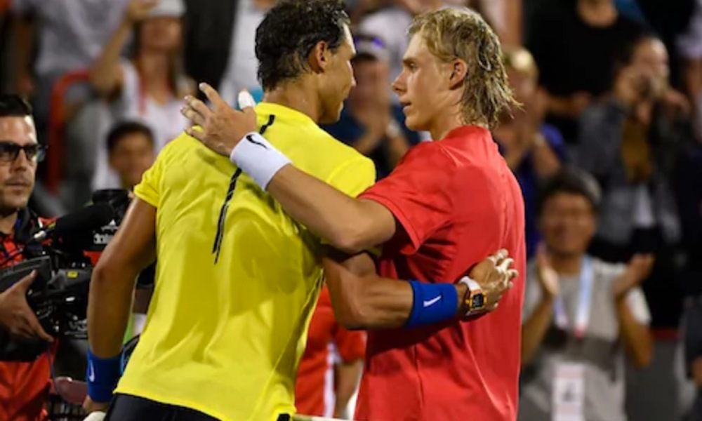 Rafael Nadal and Denis Shapovalov (Photo: USA TODAY Sports)
