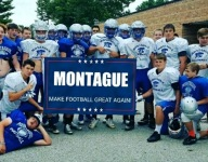 Michigan school district criticizes football team that posed for team photo behind Trump banner