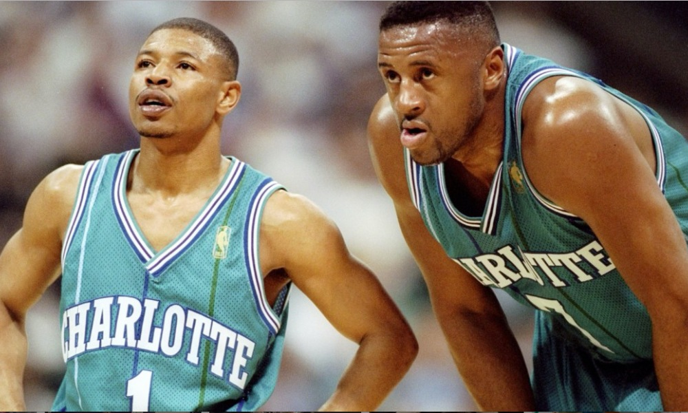 Mugsy Bogues and Alonzo Mourning (Photo: Getty Images/USA TODAY Sports)