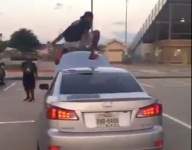 VIDEO: Flower Mound Marcus (Texas) LB Marcel Brooks leaps over a Lexus
