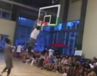 VIDEO: LeBron 'Bronny' James Jr. played in a Pro-Am with Heat center Hassan Whiteside, threw up incredible alley-oops