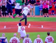 VIDEO: Mass. HS pitcher throws unforgettable first pitch prior to Red Sox game