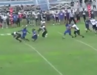 VIDEO: Watch QB Jacquez Carter (Palmetto Ridge, Fla.) somehow split the defense on wild TD run