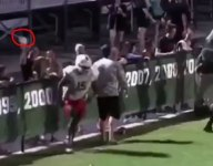Fla. football player struck by a bottle thrown by spectator
