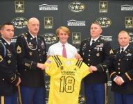 Indiana commit Charles Campbell receives Army Bowl jersey
