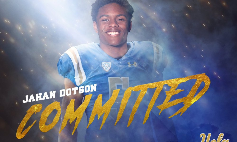 Nazareth wide receiver Jahan Dotson committed to UCLA (Photo: Twitter screen shot)