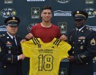 Long Beach Poly WR Jalen Hall, QB Matt Corral receive U.S. Army All-American jerseys