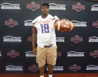 Giant Mississippi State commit Kwatrivous Johnson receives Under Armour All-America Game jersey