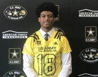 Top Indy LB Cam McGrone presented with U.S. Army All-American Bowl jersey
