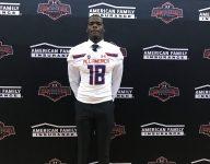 Alabama football commit Jordan Davis presented with Under Armour All-America jersey