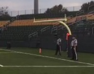 A crossbar but no uprights for high school game? Yes, really