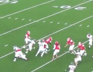VIDEO: Senior Navy RB commit Justin Stevenson pulls a full Houdini on epic touchdown run