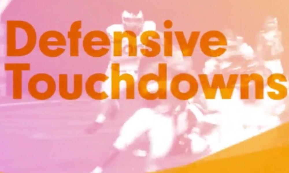 Defensive touchdowns (Photo: Hudl screen shot)