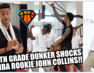 VIDEO: Fla. seventh-grader dunks in his school uniform with NBA rookie John Collins looking on