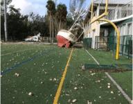 Hurricane Irma washes up boats (!) onto Miami school's football field