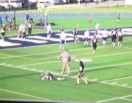VIDEO: Texas football coach sends QB to ground in TD celebration gone awry