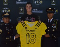 Corona Centennial QB Tanner McKee gets his jersey for Army Bowl
