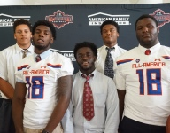 St. Frances linemen Eyabi Anoma and Jaelyn Duncan land their Under Armour Game Jerseys