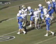 Player with cerebral palsy scores TD as both teams cheer him on
