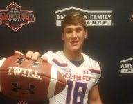 Northwestern commit Devin O'Rourke receives Under Armour All-America jersey