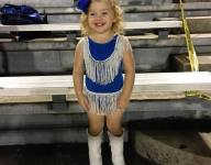 VIDEO: Toddler in drill team outfit steals show at La. high school football game